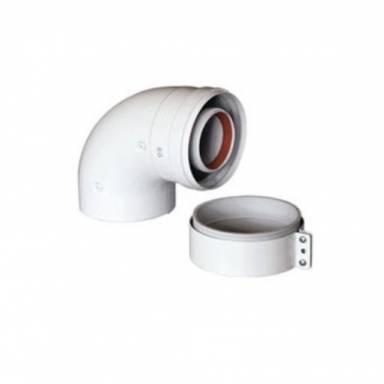 Коаксиальный отвод (уголок) BAXI 90°, диаметр 60-100, для конденсационных котлов