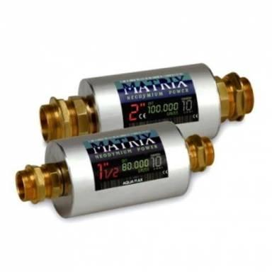 Магнитный преобразователь воды большой производительности Aquamax MATRIX 1 1*2 и 2 дюйма