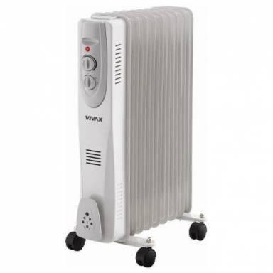 9-ти секционный, напольный, маслянный обогроеватель (радиатор) SANICO OH07S-9G, мощность 2 кВт