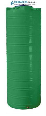 emkost-300-litrov-uzkaya-vertikalnaya-odnoslojnaya-zelenaya