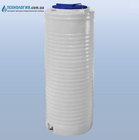 emkost-300-litrov-vertikalnaya-uzkaya-odnoslojnaya-belaya